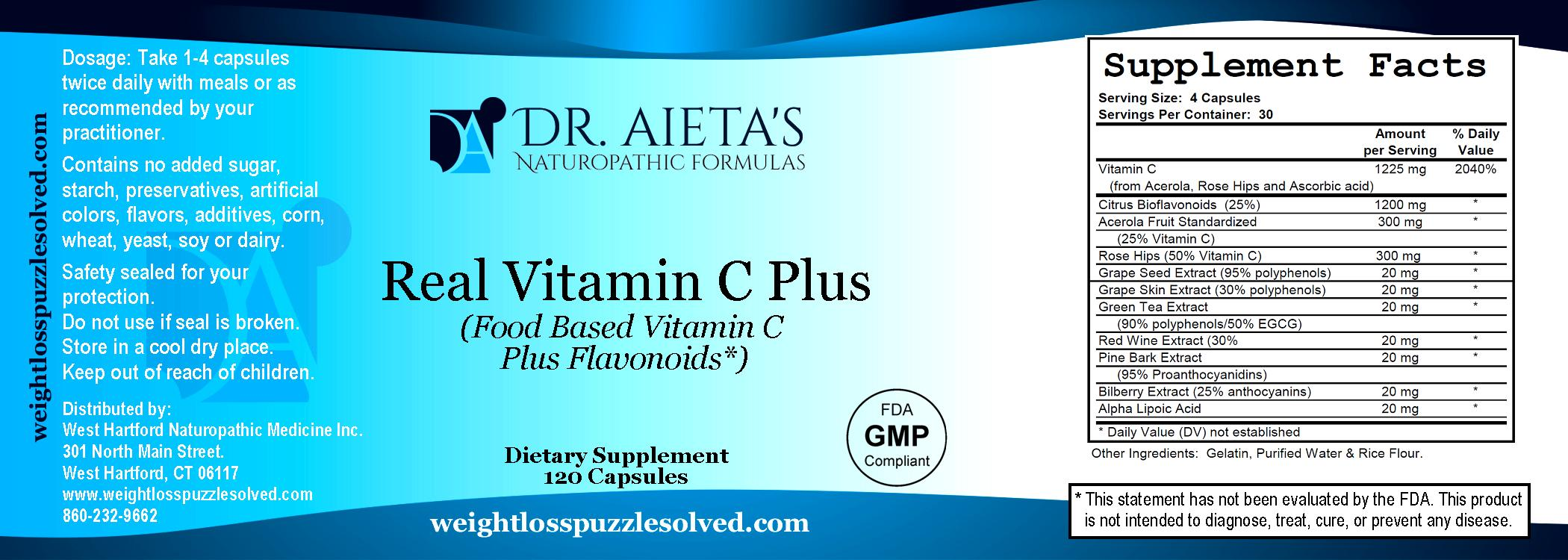Real Vitamin C Plus (Food Based Vitamin C Plus Flavonoids)
